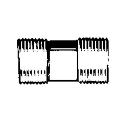 "Picture of QEST Qicktite (R) Unassembled 1/2"" MPT x 1/2"" MPT Gray Acetal Fresh Water Straight Fitting QC43T 10-3083"