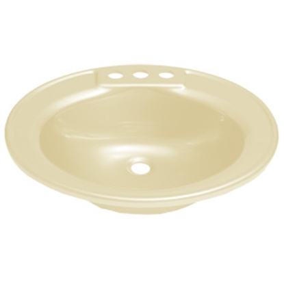 "Picture of Better Bath Better Bath 17"" x 20"" Oval Parchment ABS Lavatory Sink 209358 10-5700"