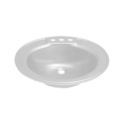 "Picture of Better Bath Better Bath 17"" x 20"" Oval White ABS Lavatory Sink 209635 10-5701"