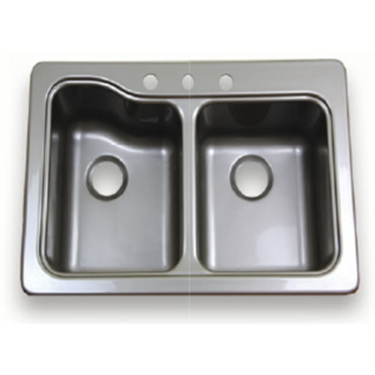 "Picture of Better Bath Better Bath Double Bowl 25"" x 19"" Stainless Steel ABS Outdoor Kitchen Sink 209586 10-5704"