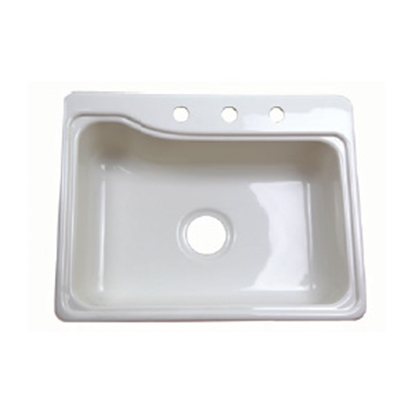 "Picture of Better Bath Better Bath 25"" x 19"" White ABS Kitchen Sink 209407 10-5706"