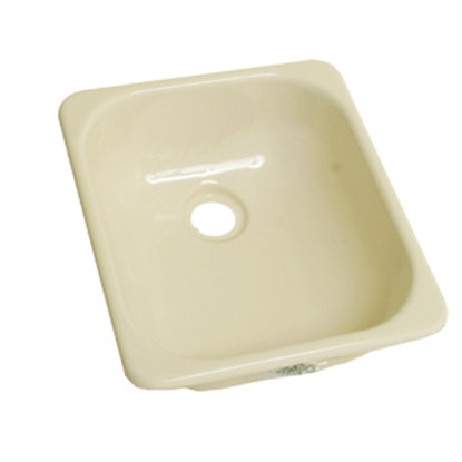"Picture of Better Bath Better Bath 13"" x 15"" Square Parchment ABS Outdoor Kitchen Sink 209351 10-5707"
