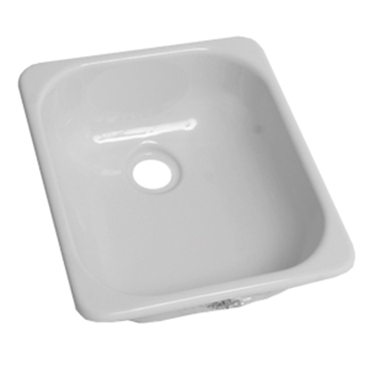 "Picture of Better Bath Better Bath 13""x15"" Square White ABS Outdoor Kitchen Sink 209630 10-5708"