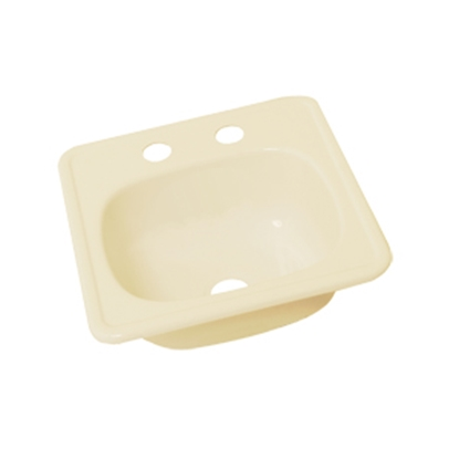 "Picture of Better Bath Better Bath 15"" x 15"" Square Parchment ABS Outdoor Kitchen Sink 209356 10-5709"