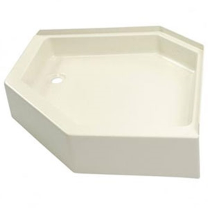 "Picture of Better Bath Better Bath Parchment 32""x32"" Neo-Angle LH Drain Shower Pan 209414 10-5717"