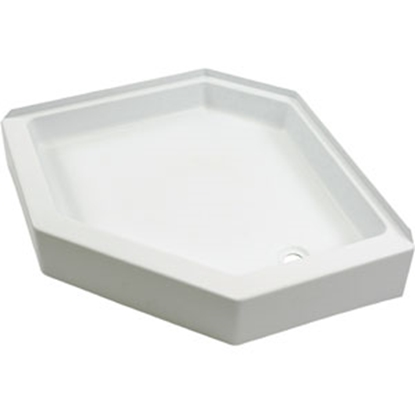 "Picture of Better Bath Better Bath White 32""x32"" Neo-Angle RH Drain Shower Pan 209744 10-5720"