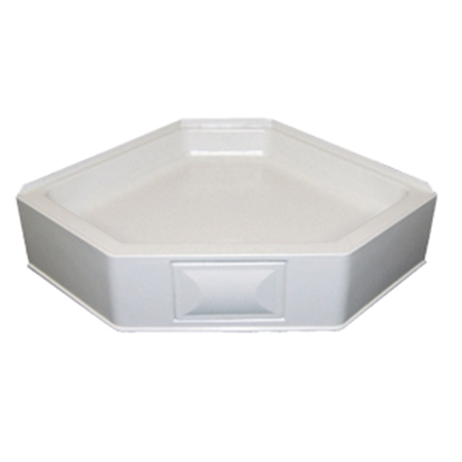 "Picture of Better Bath Better Bath White 34""x34"" Neo-Angle Center Drain Shower Pan 301241 10-5721"