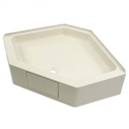 "Picture of Better Bath Better Bath Parchment 34""x34"" Neo-Angle Center Drain Shower Pan 301242 10-5722"