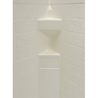 "Picture of Better Bath Better Bath 1-Piece Parchment 34""L x 34""W x 68""H Neo Angle Shower Surround 306201 10-5727"