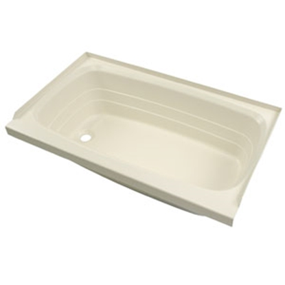 "Picture of Better Bath Better Bath Parchment 24""x40"" LH Drain ABS Standard Bathtub 209388 10-5735"