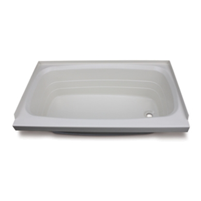 "Picture of Better Bath Better Bath Parchment 24""x40"" RH Drain ABS Standard Bathtub 209392 10-5736"