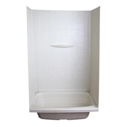 "Picture of Better Bath Better Bath 1-Piece Parchment 24""L x 36""W x 59""H Shower Surround 209461 10-5737"
