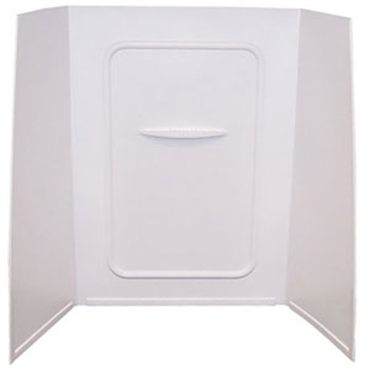 "Picture of Better Bath Better Bath 1-Piece White 24""L x 36""W x 59""H Shower Surround 210305 10-5738"