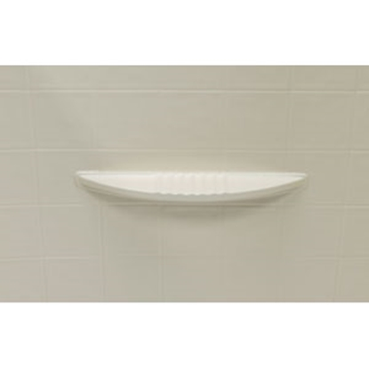 "Picture of Better Bath Better Bath 1-Piece Parchment 24""L x 40""W x 58""H Shower Surround 306206 10-5739"