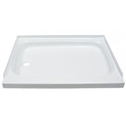 "Picture of Better Bath Better Bath White 24""x32"" Standard LH Drain Shower Pan 210369 10-5744"