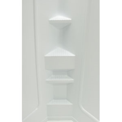 "Picture of Better Bath Better Bath 1-Piece White 32""L x 32""W x 68""H Neo Angle Shower Surround 210324 10-5747"
