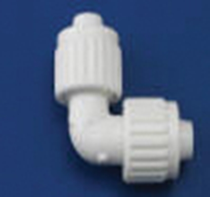 "Picture of Flair-It Flair-It (TM) 1/2"" PEX x 1/2"" FPT White Plastic Fresh Water 90 Deg Elbow 06802 10-7021"
