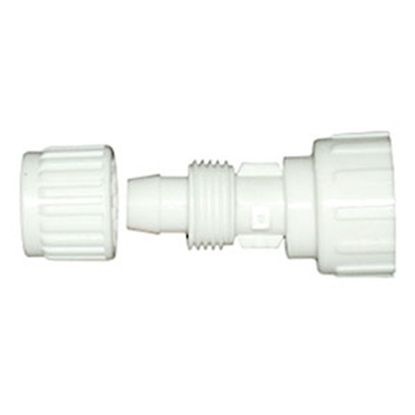 "Picture of Flair-It Flair-It (TM) 1/2"" PEX x 3/4"" FGHT Swivel Nut White Plastic Fresh Water Straight Fitting 06866 10-7055"
