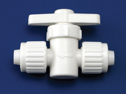 "Picture of Flair-It Flair-It (TM) 1/2"" Flare Plastic Straight Stop Valve 06880 10-7075"