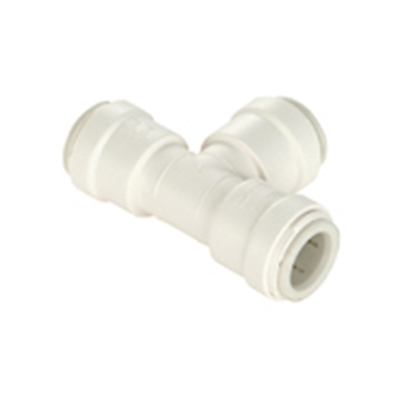 """Picture of Sea Tech 35 Series 3/8"""" Female QC Copper Tube Off-White Polysulfone Fresh Water Union Tee 013523-08 10-8163"""