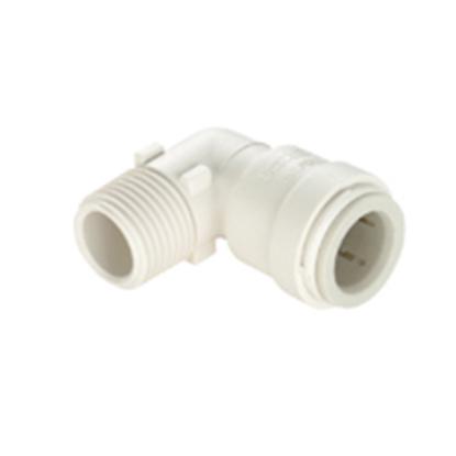 "Picture of Sea Tech 35 Series 1/2"" Female QC Copper Tube x 1/2"" MNPT Off-White Polysulfone Fresh Water 90 Deg Elbow 013519-1008 10-8177"
