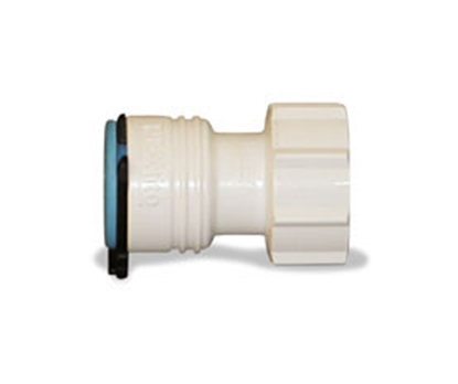 "Picture of Flojet  1/2"" PEX ID x 3/4"" FGHT White Plastic Fresh Water Straight Fitting 1820005C 10-8243"