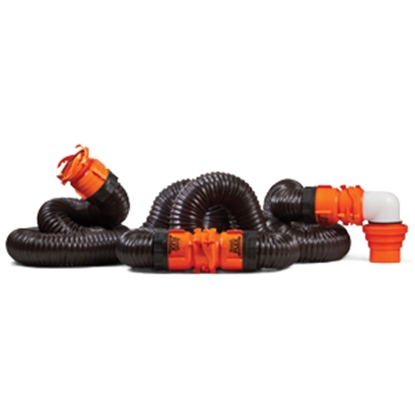 Picture of Camco RhinoFLEX (TM) Black 20' 23 Mil Polyolefin Reinforced Sewer Hose 39741 11-0018