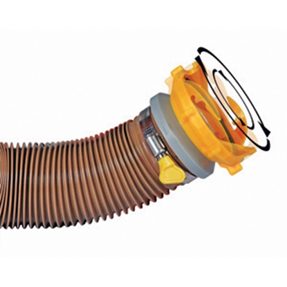 Picture of Camco Revolution Yellow Swivel Bayonet Sewer Hose Connector 39481 11-0027