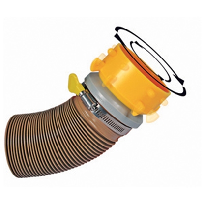 Picture of Camco Revolution Yellow Swivel Lug Sewer Hose Connector 39491 11-0028