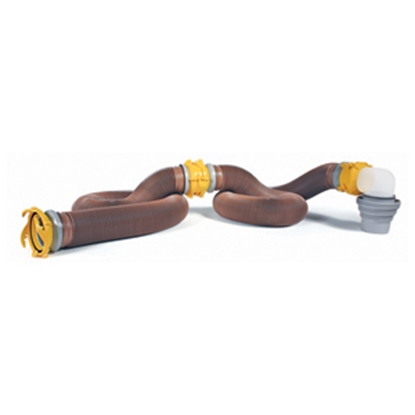 Picture of Camco Revolution Brown 20' 15 Mil Vinyl Sewer Hose Extension 39625 11-0029