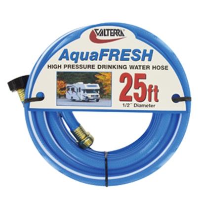 "Picture of Valterra Aqua Fresh Blue 1/2""x25' Fresh Water Hose w/Gripper & Pre-installed Hose Saver W01-8300 11-0048"