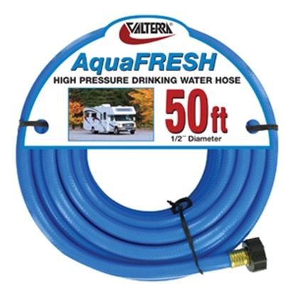 "Picture of Valterra Aqua Fresh White 1/2""x10' Fresh Water Hose w/Gripper & Pre-installed Hose Saver W01-8600 11-0049"