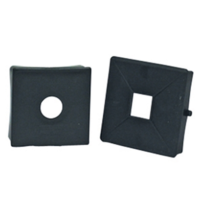 "Picture of Camco Bumper End Cap 4"" x 4"" Rubber Bumper Plug 40302 11-0180"
