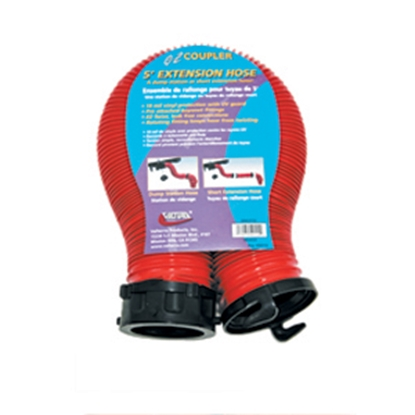 Picture of Valterra EZ Coupler Red 5' 18 Mil Vinyl Sewer Hose Extension D04-0112 11-0210