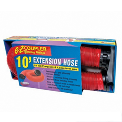 Picture of Valterra EZ Coupler Red 10' 18 Mil Vinyl Sewer Hose Extension D04-0113 11-0211