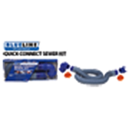 Picture of Prest-o-Fit Blue Line (R) Blue 10' Vinyl Sewer Hose 1-0202 11-0212