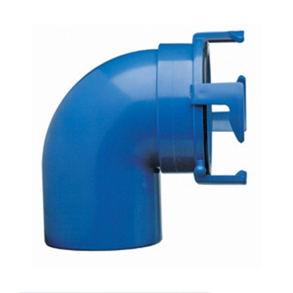 Picture of Prest-o-Fit Blue Line (R) Blue 90 Degree Sewer Hose Connector 1-0020 11-0221