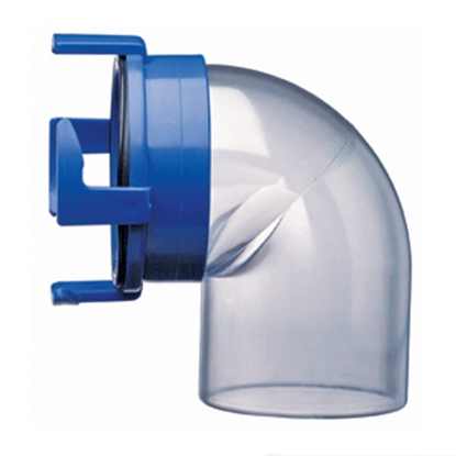 Picture of Prest-o-Fit Blue Line (R) Clear 90 Degree Sewer Hose Connector 1-0021 11-0222
