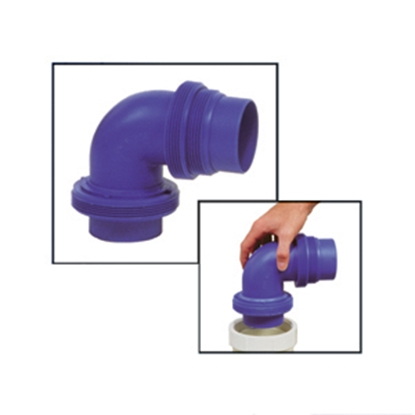 Picture of Prest-o-Fit Blue Line (R) Blue Elbow Sewer Hose Connector 1-0001 11-0277