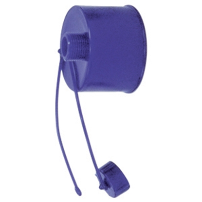 Picture of Prest-o-Fit Blue Line (R) Blue Sewer Hose Cap For Bayonet, Elbow Connections 1-0005 11-0284