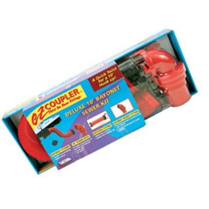 Picture of Valterra EZ Coupler Red 10' 18 Mil Vinyl Sewer Hose D04-0114 11-0287