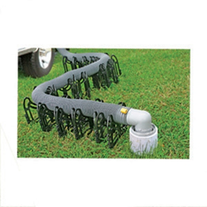 Picture of Camco Sidewinder 10' Plastic Collapsible Sewer Hose Support 43031 11-0345