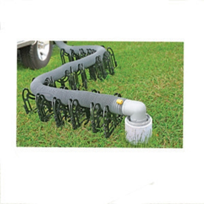 Picture of Camco Sidewinder 15' Plastic Collapsible Sewer Hose Support 43041 11-0346