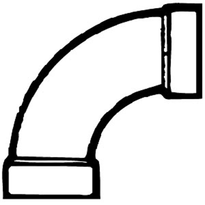 """Picture of Lasalle Bristol  3"""" ABS Long Sweep Bend 632278 11-1111"""