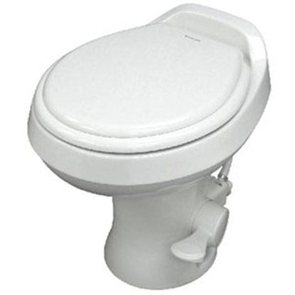 "Picture of Dometic Revolution (TM) 300 Series White 18"" Pedal Flush Permanent Toilet 302300071 12-0016"