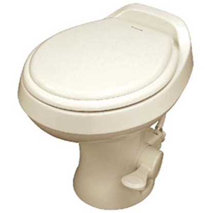 "Picture of Dometic Revolution (TM) 300 Series Bone 18"" Pedal Flush Permanent Toilet 302300073 12-0017"