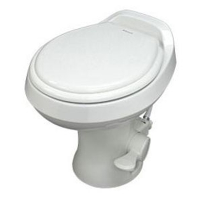 "Picture of Dometic Revolution (TM) 300 Series Bone 13-1/2"" Pedal Flush Permanent Toilet 302301673 12-0041"