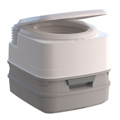 Picture of Thetford Porta Potti (R) 260B 2.6 Gal Porta Potti 260B White/ Medium Gray Portable Toilet 92859 12-0195