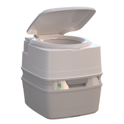 Picture of Thetford Porta Potti (R) 550P 5.5 Gal Porta Potti 550P White/ Medium Gray Portable Toilet 92853 12-0197