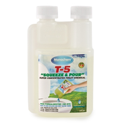 Picture of Monochem Monochem (R) T-5 Squeeze & Pour 32 Oz Refill Bottle Holding Tank Treatment 30765 13-0306
